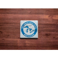 Great Lakes State Blue Coaster