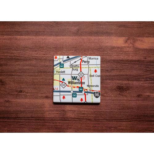 Williamston Map Coaster