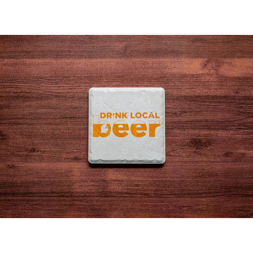 Drink Local Beer Coaster
