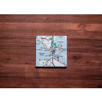 Mackinaw City Map Coaster