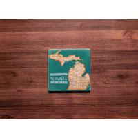 Michigander Map Coaster