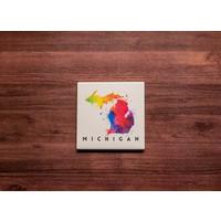 Michigan Watercolor Coaster