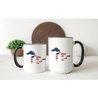 America Flag Great Lakes Mug