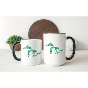 Green Floral Great Lakes Mug Two