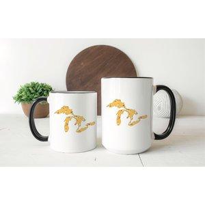 Yellow Floral Great Lakes Mug