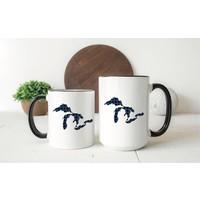 Blue Plaid Great Lakes Mug