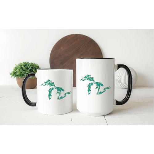 Green Floral Great Lakes Mug Two