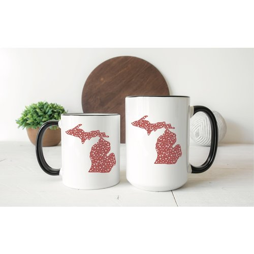 Hearts Michigan Mug