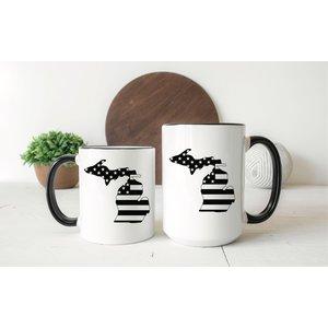 American BW Michigan Mug
