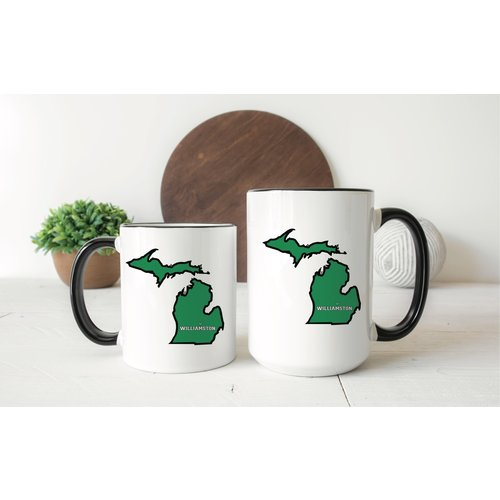 Williamston Michigan Heart Mug