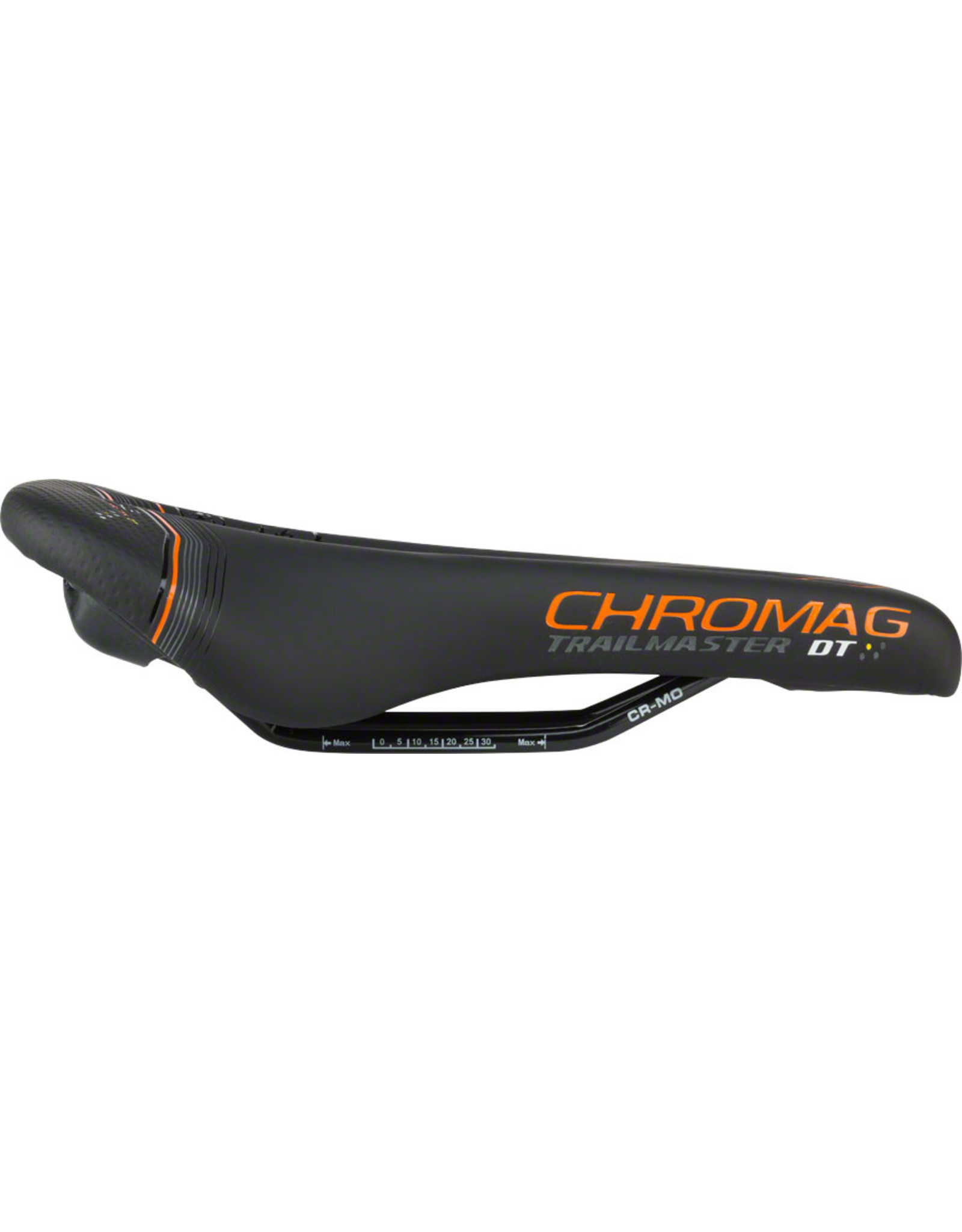 Chromag Trailmaster DT Saddle: Synthetic Cover, Black and Tight Orange