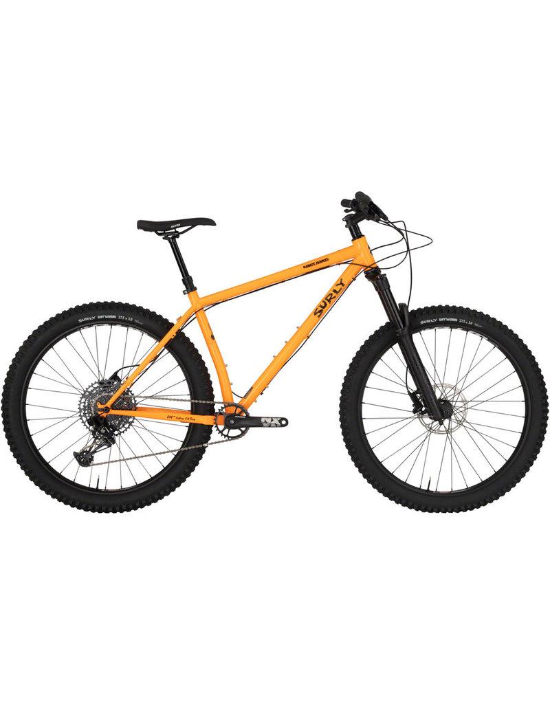 Surly Surly Karate Monkey Front Suspension Bike - 27.5, Steel, Toxic Tangerine