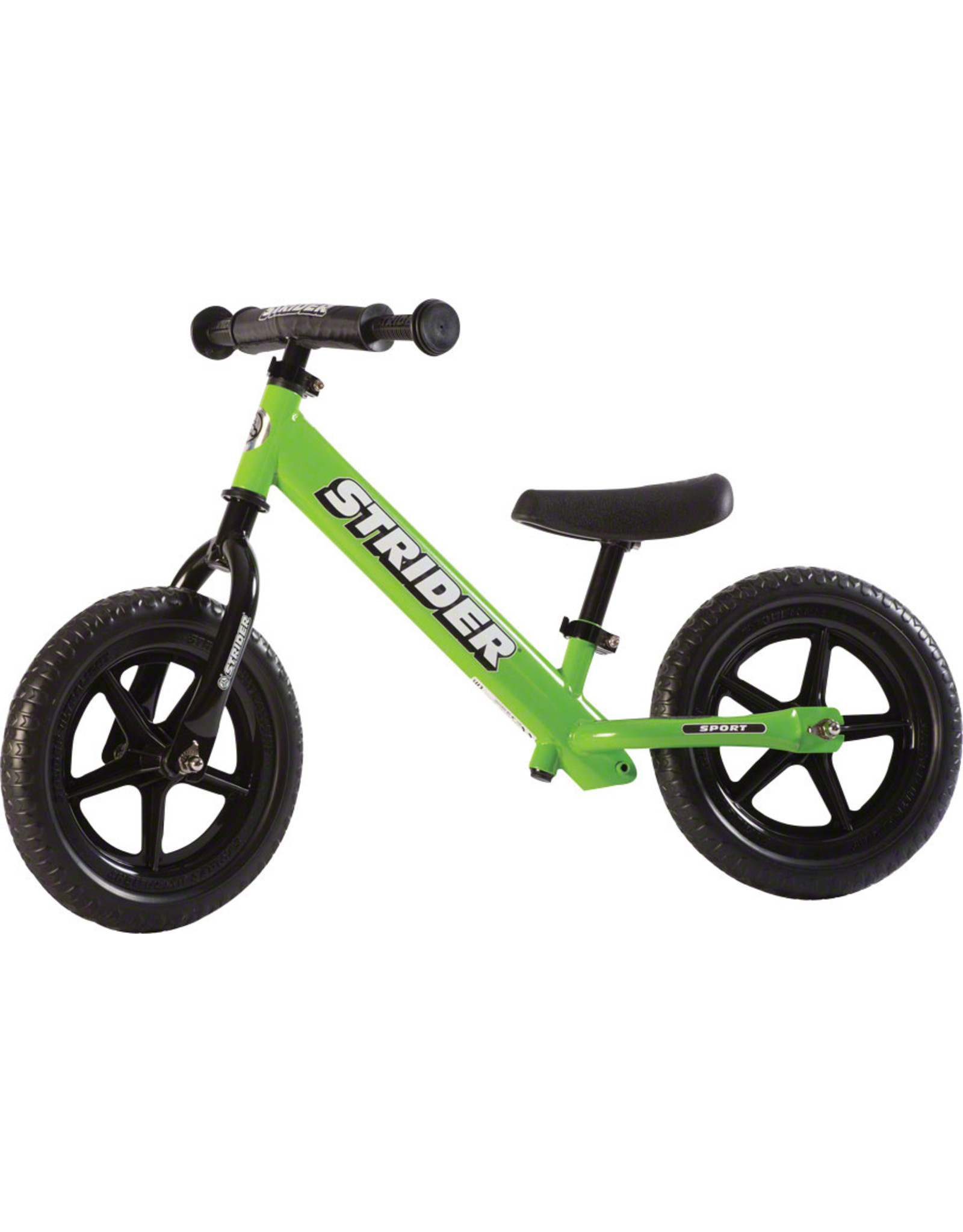 Strider 12 Sport Kids Balance Bike: Green