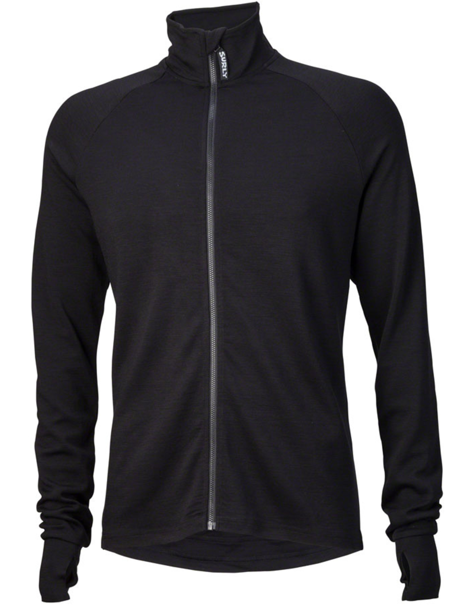 Surly Surly Merino Wool Jersey - Black, Long Sleeve, Men's, Small