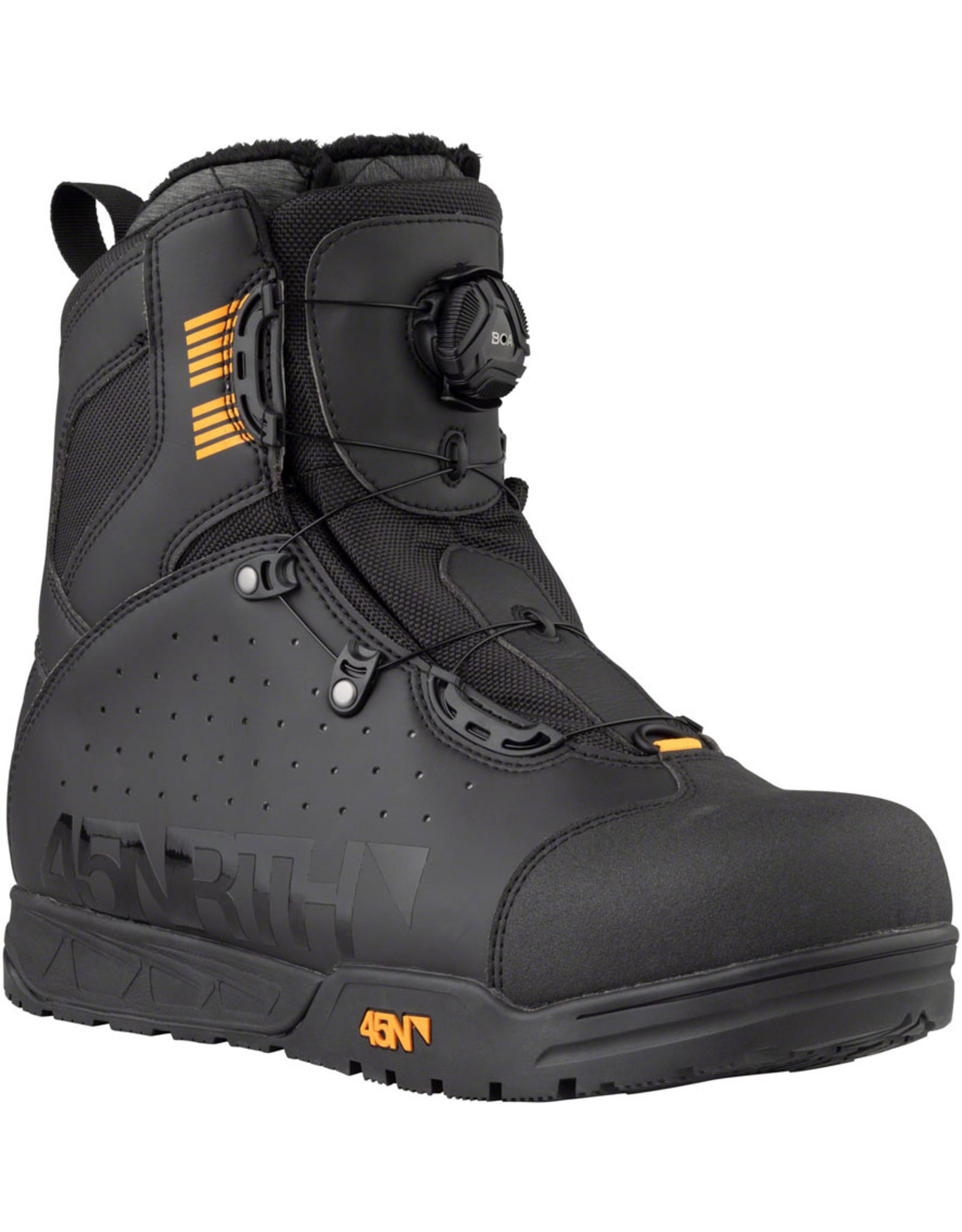 45NRTH 45NRTH Wolvhammer Cycling Boot: BOA Closure, Black, Size 43