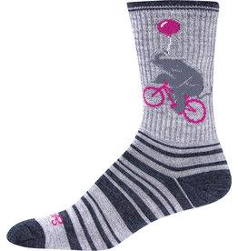 SockGuy Wool Circus Socks - 6 inch, Gray