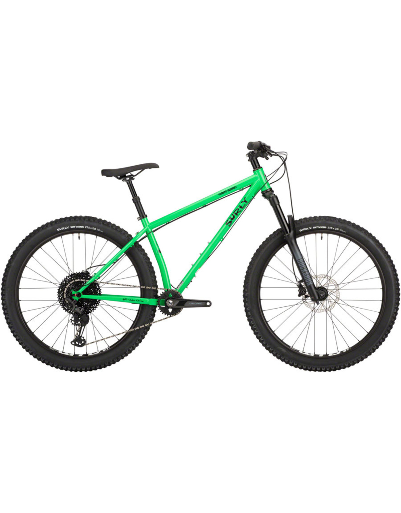 """Surly Surly Karate Monkey Front Suspension Bike - 27.5"""", Steel, High Fiber Green"""