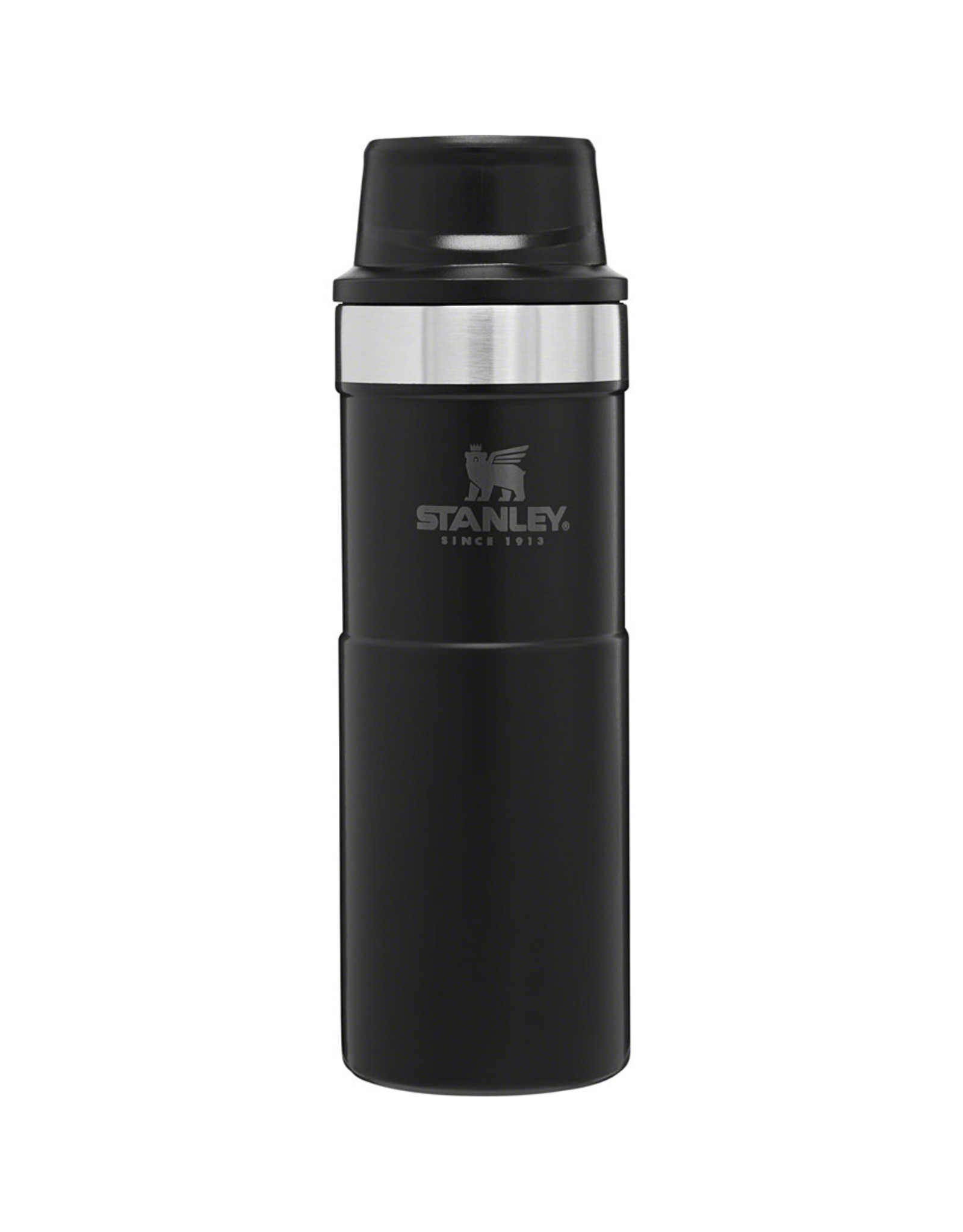 Stanley Classic Trigger-Action Travel Mug: Matte Black, 16oz