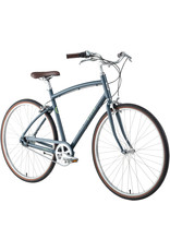 Civia Lowry 8-Speed Internal Step-Over Bike - 700c, Aluminum, Gray/Lime Green, Large