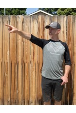 Yawp! 3/4 Baseball T-Shirt Deep Heather/Black
