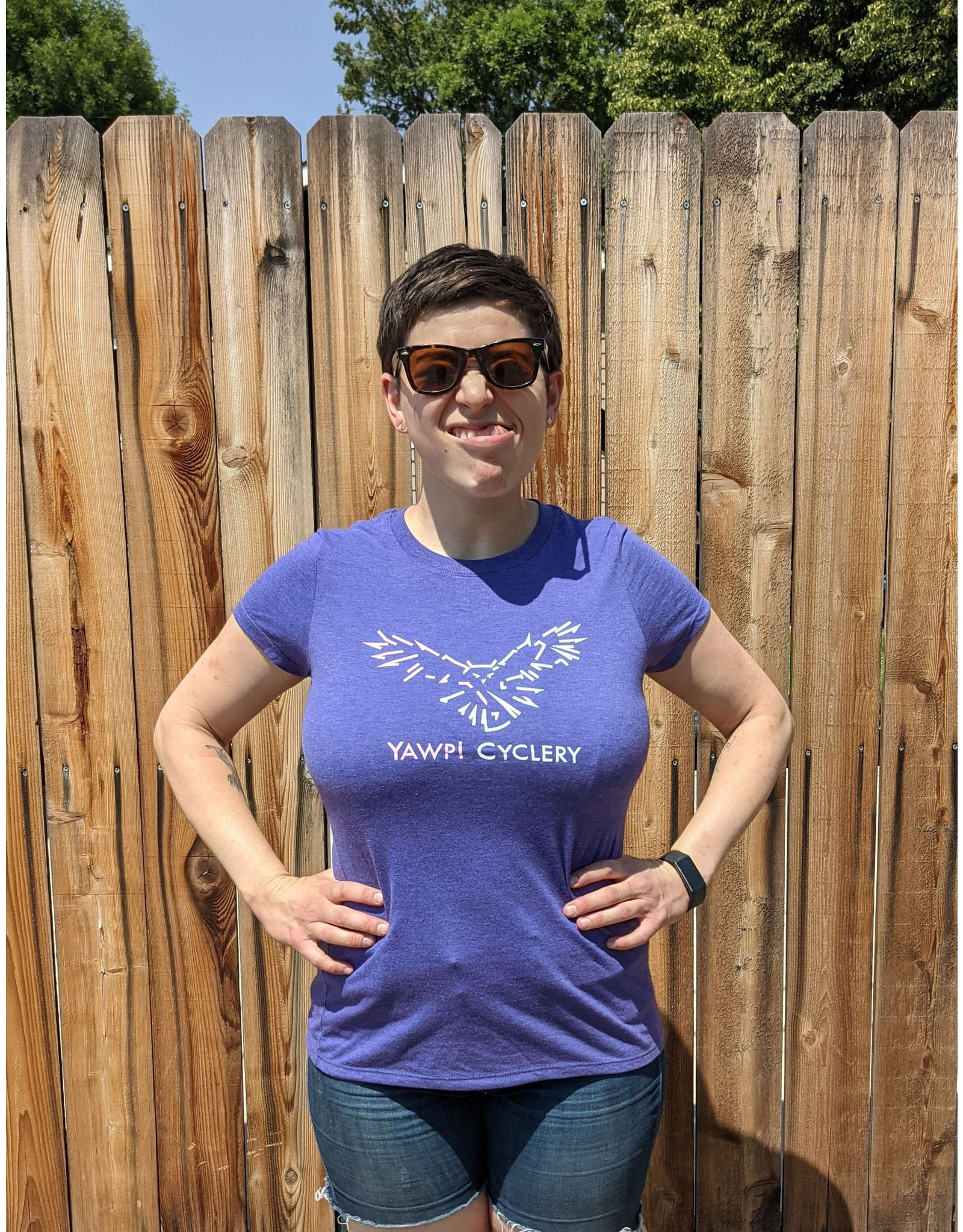 Yawp! Cyclery T-Shirt Tri-Blend - Women's