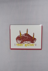 Bench Pressed Happy Beef Day Card