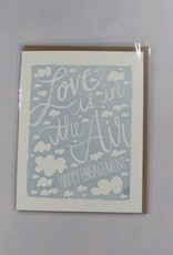 9th Letter Press Love in Air