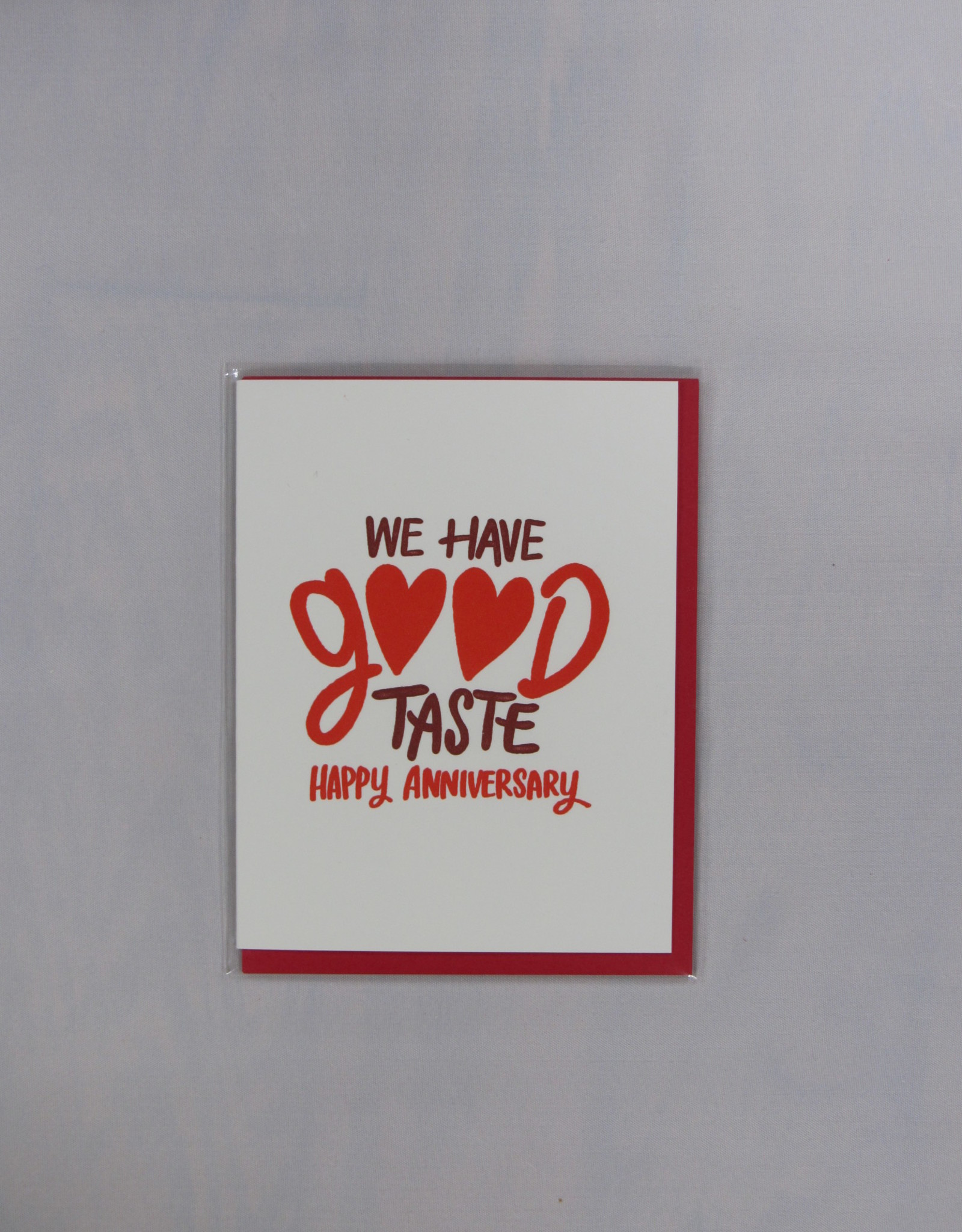 Bench Pressed Good Taste Card