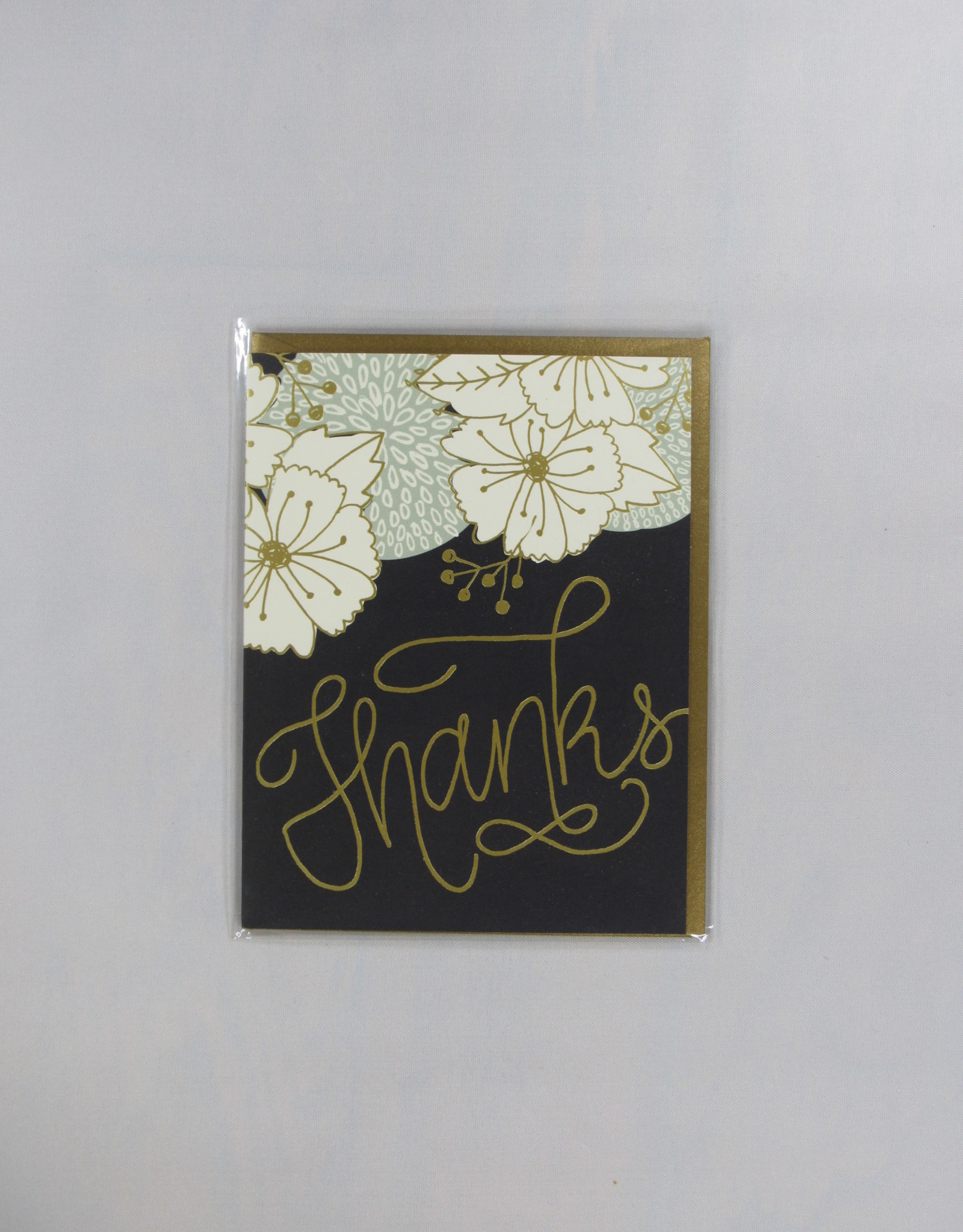 9th Letter Press Gold Bouquet Card