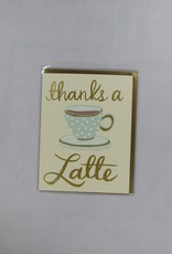 9th Letter Press Thanks a Latte