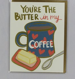 9th Letter Press Butter in Coff Card