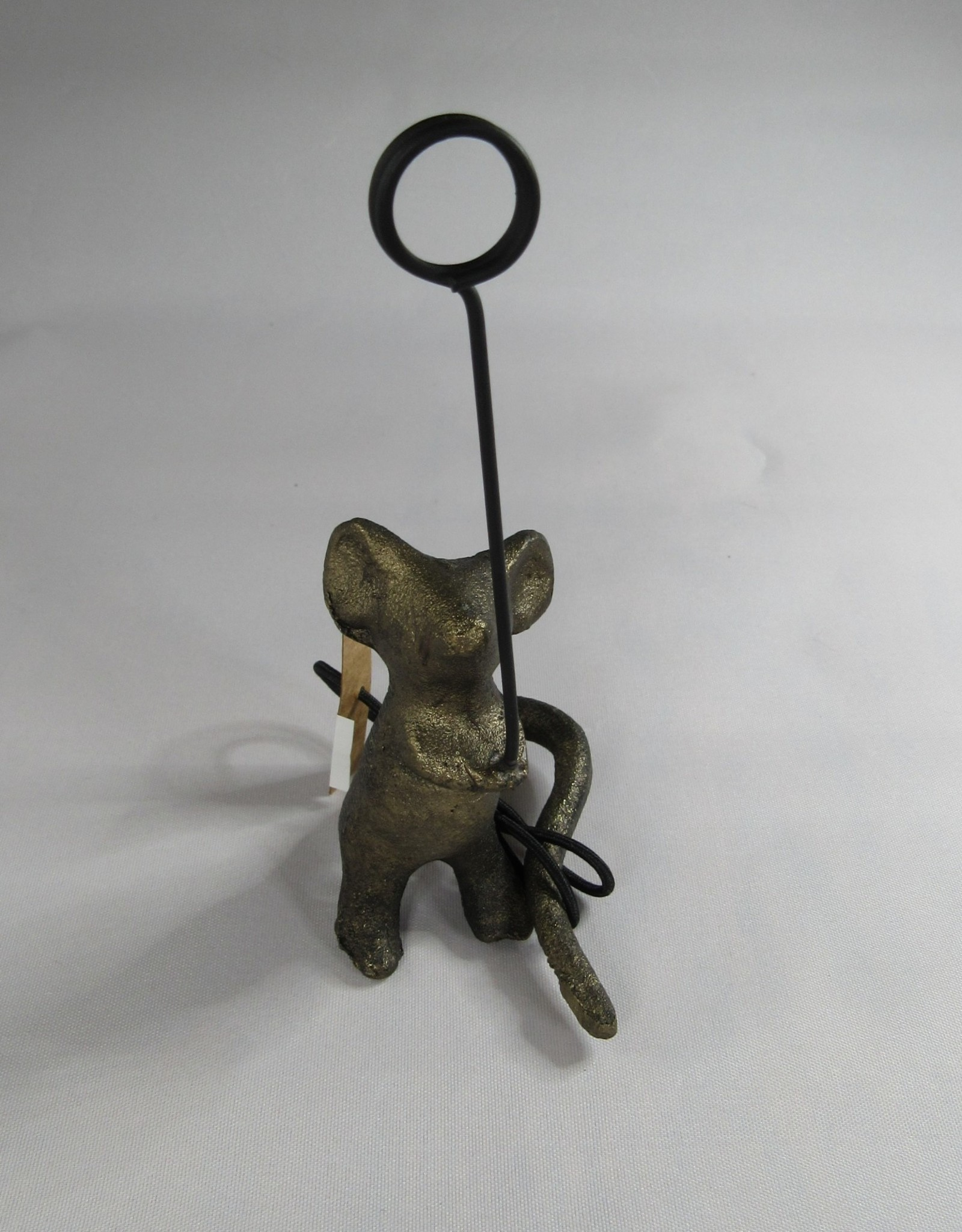 Wink Cast Iron Mouse Card Holder