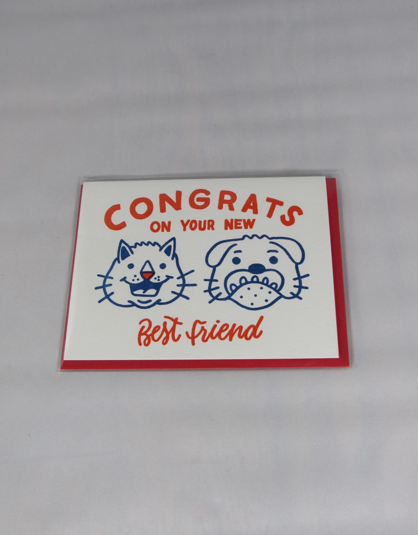 Bench Pressed Best Friends Card