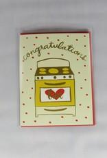 9th Letter Press Bun in Oven Card