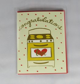 9th Letter Press Bun in Oven Card