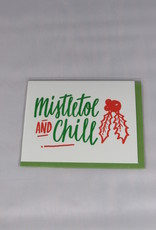 Bench Pressed Mistletoe and Chill Card