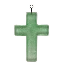 Wink Recycled Glass Hanging Cross