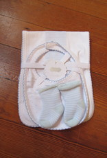 Mud Pie Blue Bib Set