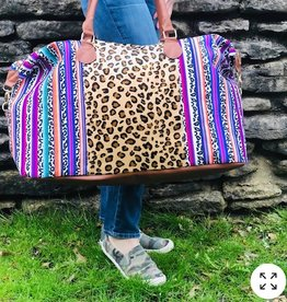 Wink Serape Cheetah Weekender Bag