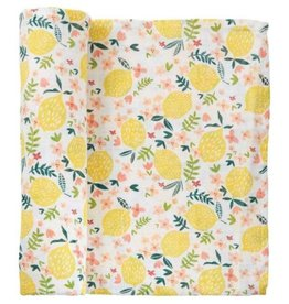 Mud Pie Lemon Floral Swaddle Blanket