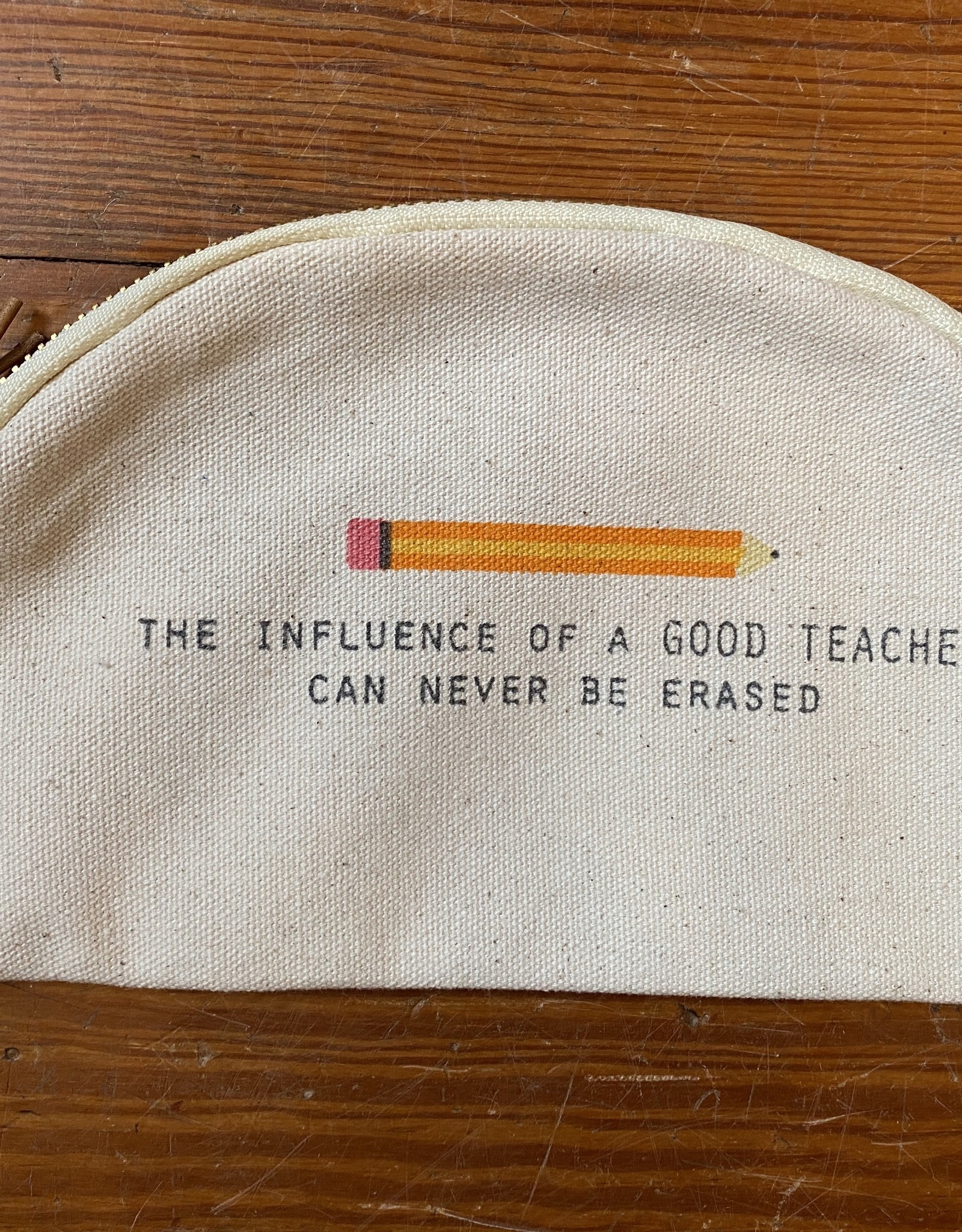 Mud Pie Pencil Teacher Canvas Pouch
