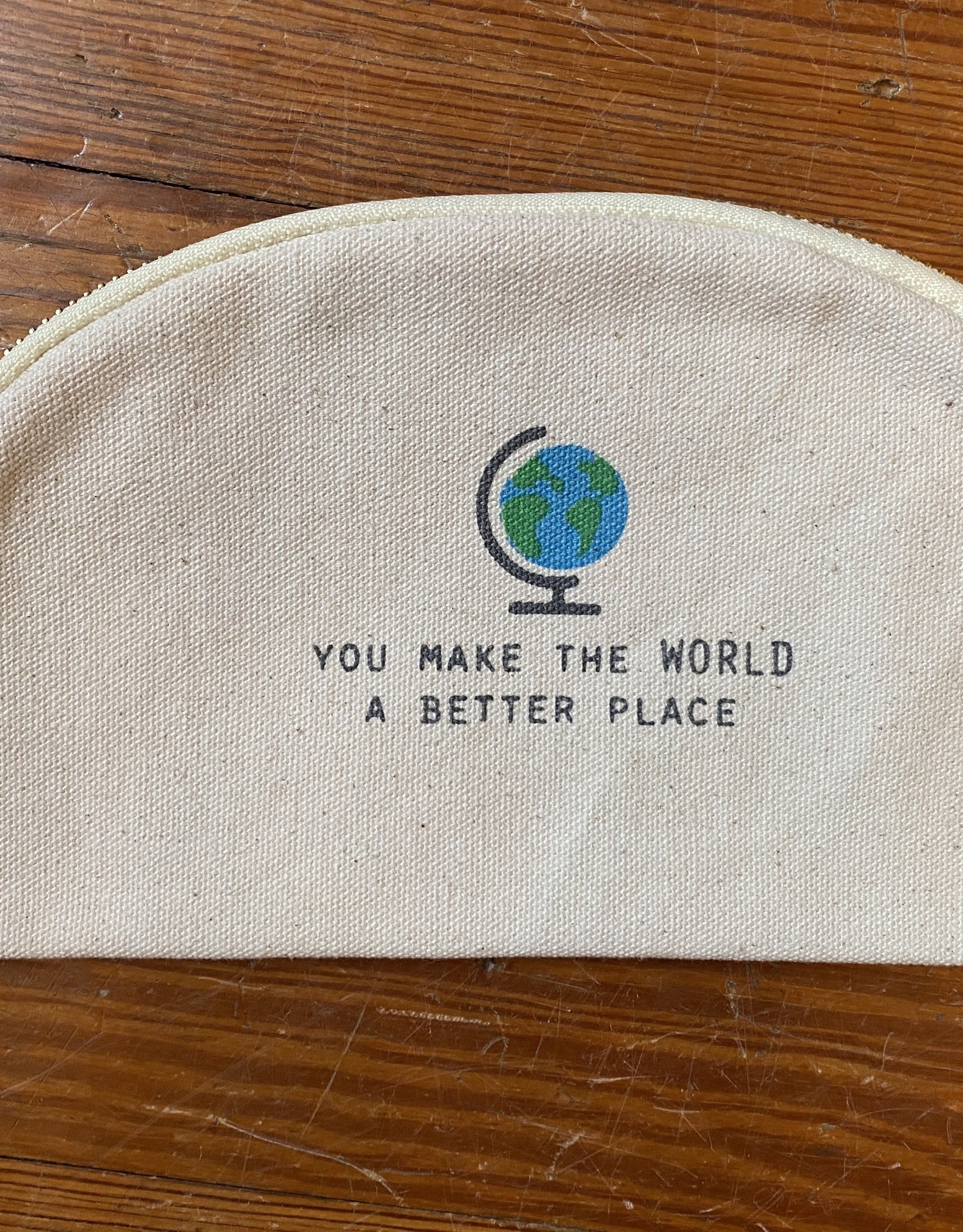 Mud Pie World Teacher Canvas Pouch