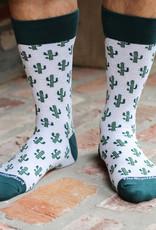 Wink Cactus Socks Light Blue/Hunter Green