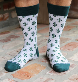Wink Cactus Socks Light Blue/Hunter Green