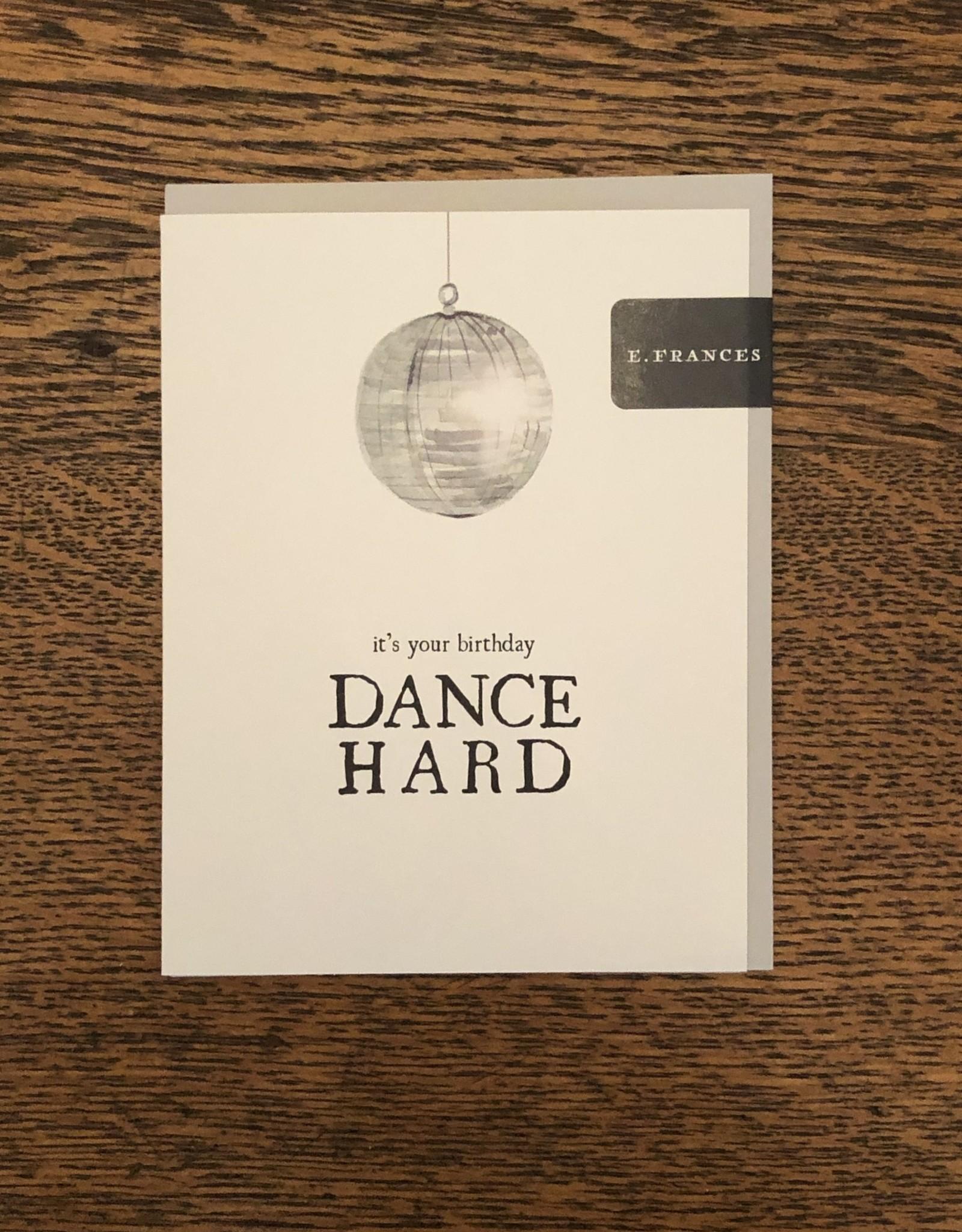 E Frances Paper Disco Ball Card