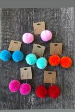 Wink Pom Pom Earrings
