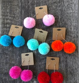 Wink Pom Pom Earrings