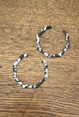 Wink BW Geo Hoop Earrings