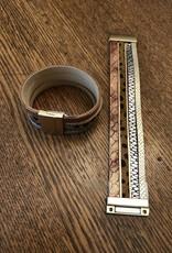 Wink Multi Strand Leopard Magnetic Bracelet