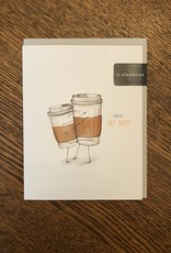 E Frances Paper Coffee Cups Card